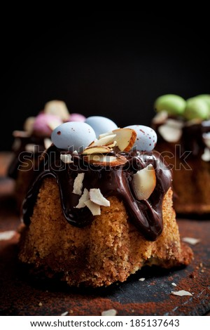 Bundt Cake Chocolate Easter Decorations Stock Photo Edit Now