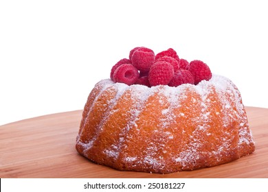 bundt cake with sweet raspberry and icing