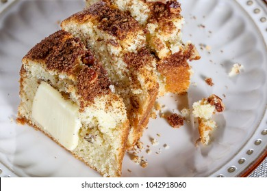 Bundt Coffee Cake sprinkled with cinnamon sugar and topped with pecans