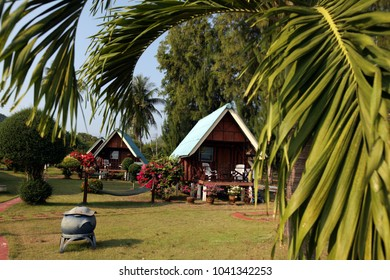 a Bungalow at the beach of Chumphon at the pier to the ko Tao Island in the Golf of Thailand in Thailand,  Thailand, Ko Tao, April, 2011