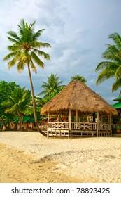 bungalow at the coastline