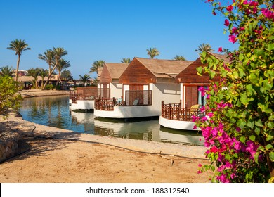 Bungalow on a canal. El Gouna, Egypt, Red Sea