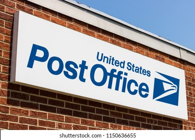 Bunker Hill - Circa August 2018: USPS Post Office Location. The USPS is Responsible for Providing Mail Delivery VI