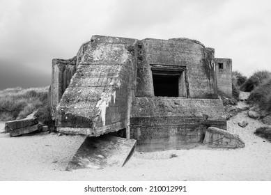 Bunker Regelbau 612, Atlantic Wall, Utah Beach, Normandy, France