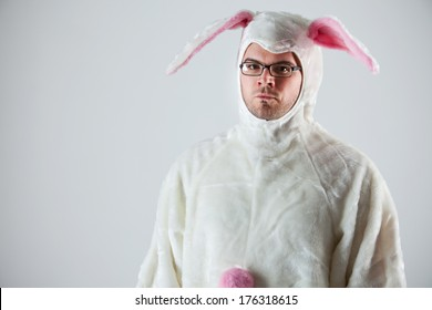 Bunny: Annoyed Man In Rabbit Suit