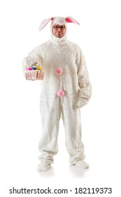 Bunny: Human Easter Bunny With Basket Of Eggs