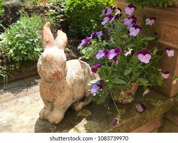 Bunny sculpture is spring