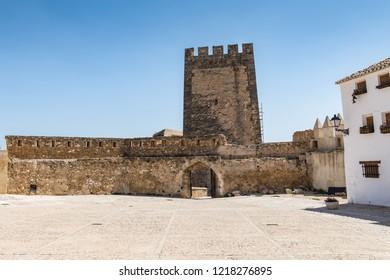 BUNOL, SPAIN - AUGUST 2018. Ruins of the castle in Bunol