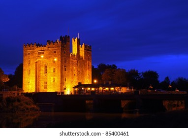 Bunratty Castle Co. Clare Ireland At Night