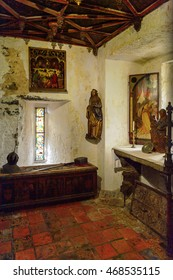 BUNRATTY, IRELAND - JULY 13, 2016: Interior of the Bunratty Castle, County Clare, Ireland. National Monument of Ireland