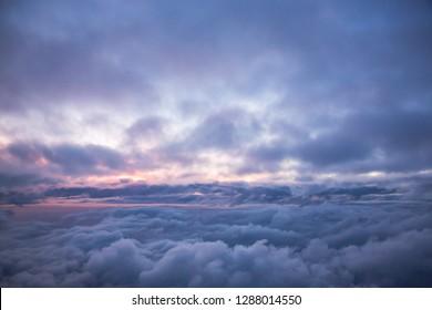 Bunte Wolken am Himmel