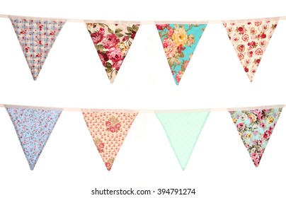 Bunting white background cut out