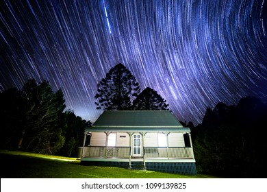 Bunya Mountains star trail drone