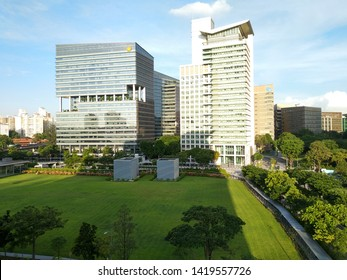 Buona Vista, Singapore – June 8 2019: Offices at silicon valley, Singapore.