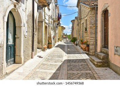 Buonalbergo, Italy, 05/07/2019. Journey to an Italian village rebuilt after an earthquake.