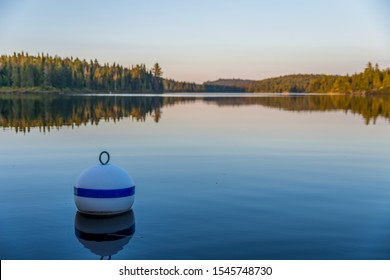 Buoy in a canadian lake of La Mauricie National Park (Mékinac, Quebec)