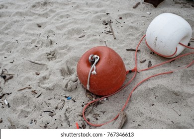 Buoy on Sandy Beach in italy
