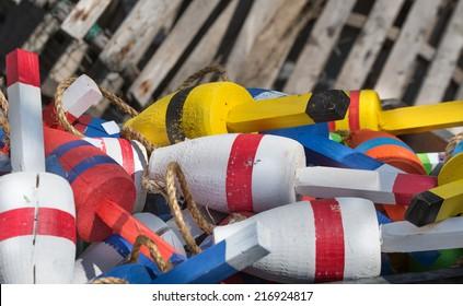 Buoy pilied