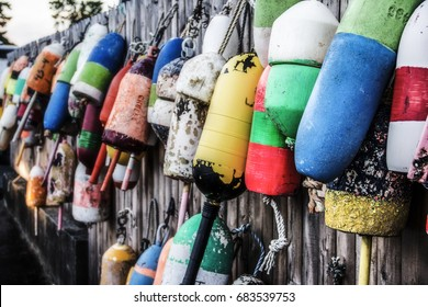 Buoys in Southwest Harbor Maine