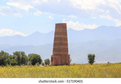 Burana Tower. An architectural monument of the XI century. Kyrgyzstan