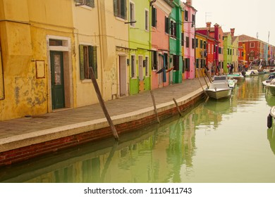 BURANO, ITALY - APR 16, 2018 - 