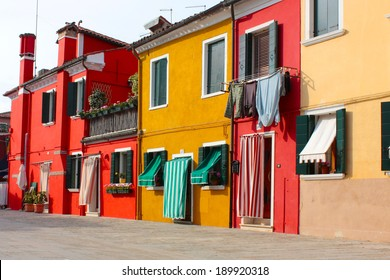 Burano (Venice island) colorful town in Italy