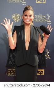 BURBANK - APR 26: Chrissy Teigen at the 42nd Daytime Emmy Awards Gala at Warner Bros. Studio on April 26, 2015 in Burbank, California