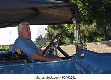 BURBANK CA - AUGUST 8, 2011: Tonight Show host Jay Leno leaving the NBC studio backlot after today's taping of the Tonight Show August 8, 2011 Burbank, CA.