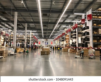 Burbank, CA: March 16, 2018: An Interior Of An Ikea Store In