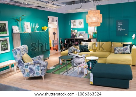 Burbank, CA: May 4, 2018: Interior Of An Ikea Store In Burbank
