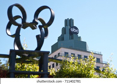 BURBANK, CA - SEPTEMBER, 9 2017: The building for ABC West Coast operations sits across the street from its parent company the Walt Disney Studios.