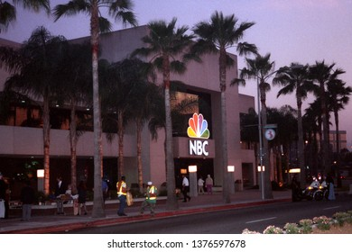 "Burbank, California - circa 1991: NBC Studios, home of ""The Tonight Show starring Johnny Carson"", made the phrase 'beautiful downtown Burbank' famous."