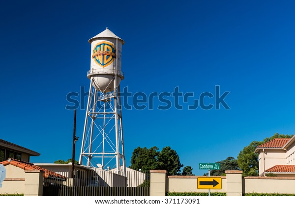 BURBANK, CALIFORNIA - SEPTEMBER 13: Outside views of the Warner Brothers Studios Buildings on September 13, 2015. The Studios are located in Los Angeles and famous for many TV Shows and Movies.