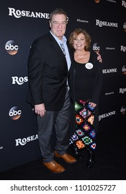 "BURBANK - MAR 23:  John Goodman and Roseanne Barr arrives to the ""Roseanne"" Series Premiere Event  on March 23, 2018 in Burbank, CA"