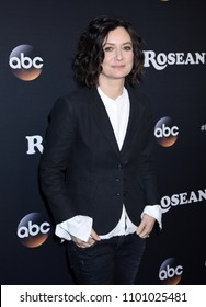 "BURBANK - MAR 23:  Sara Gilbert arrives to the ""Roseanne"" Series Premiere Event  on March 23, 2018 in Burbank, CA"