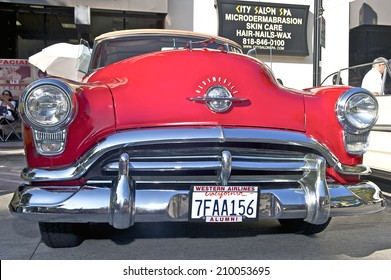 BURBANK/CALIFORNIA - JULY 26, 2014: 1952 Oldsmobile Rocket 88 owned by Keith Doplet at the Burbank Car Classic July 26, 2014, Burbank, California USA