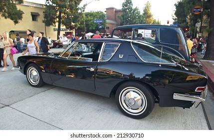 BURBANK/CALIFORNIA - JULY 26, 2014: 1963 Studebaker Avanti owned by Jim Ober at the Burbank Car Classic July 26, 2014, Burbank, California USA