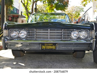 BURBANK/CALIFORNIA - JULY 26, 2014: 1965 Lincoln Continental owned by Harold Tennen at the Burbank Car Classic July 26, 2014, Burbank, California USA