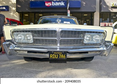 BURBANK/CALIFORNIA - JULY 26, 2014: 1965 Imperial Crown owned by Milton Hardaway at the Burbank Car Classic July 26, 2014, Burbank, California USA