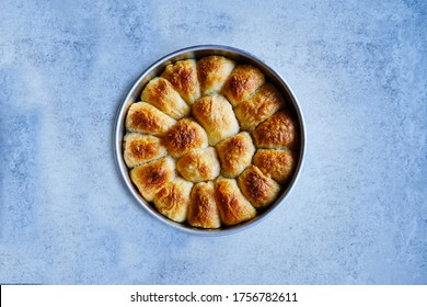 Burek with cheese, traditional borek, delicious pastry filled with cheese