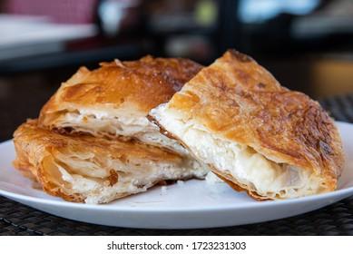 Burek sa sirom, homemade traditional Serbian cheese pie