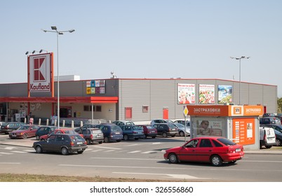 Burgas - August 29: Parking and Kaufland store on August 29, 2015, Burgas, Bulgaria