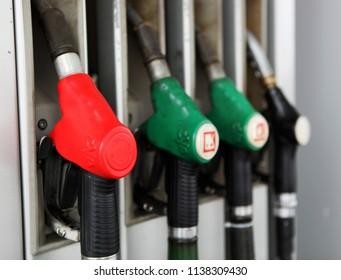 BURGAS, BULGARIA - January 21, 2012: Gas fuel station.