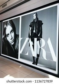 Burgas, Bulgaria - June 20, 2018: Zara store in Burgas. Zara is a Spanish clothing and accessories retailer based in Arteixo, Galicia.