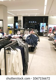 Burgas, Bulgaria - March 19, 2018: Zara store in Burgas. Zara is a Spanish clothing and accessories retailer based in Arteixo, Galicia.