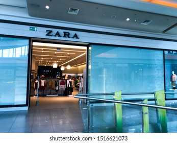 Burgas, Bulgaria - September 12, 2019: Zara Store In Burgas. Zara Is A Spanish Clothing And Accessories Retailer Based In Arteixo, Galicia.