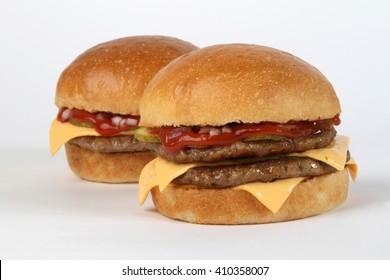 burger beef  American junk fast food hamburger with cheese cheeseburger sauces hot