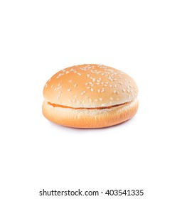 Burger bun isolated on the white background