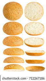burger bun isolated on white background
