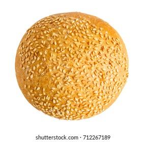 burger bun isolated on white background